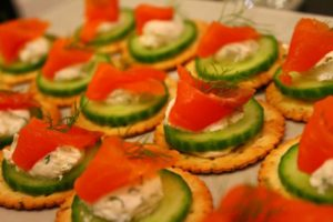 salmon with cucumber